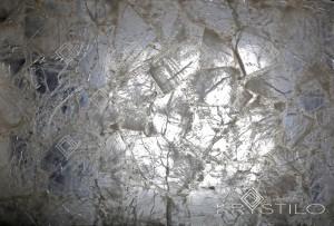Rock crystal back lit slab
